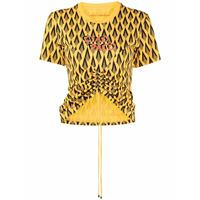 Paco Rabanne t-shirt con stampa - giallo