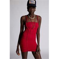 Dsquared2 donna vestito fucsia taglia xs 92% viscosa 8% elastan
