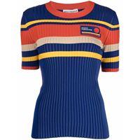 Paco Rabanne t-shirt a coste - blu