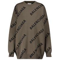 Balenciaga pullover in jacquard di misto cotone