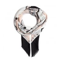 Liu jo foulard 2f0102 t0300 22222 nero 120cm 120cm