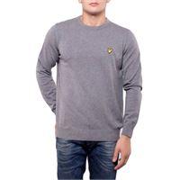 Lyle & scott pull cotton merino jumper kn400vc t28 grigio