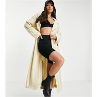 ASOS DESIGN tall - trench oversize color crema-bianco