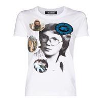 Raf Simons t-shirt collage of portraits - bianco