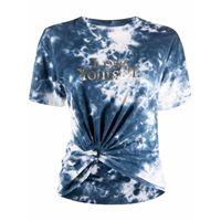 Paco Rabanne t-shirt con fantasia tie-dye - blu