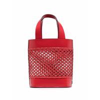 Casadei borsa tote versilia intrecciato - rosso