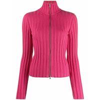 MM6 Maison Margiela cardigan a coste con zip - rosa