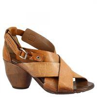 A.S.98 sandali con tacco medio da donna fatti a mano in pelle di vitello castagna chiusura con fibbia 003 castagna