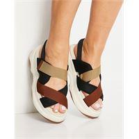 Vagabond - essy - sandali flatform color ruggine misto con listini incrociati-rame