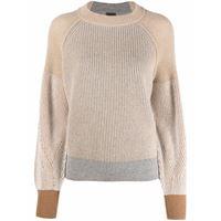 Lorena Antoniazzi maglione con design color-block - grigio