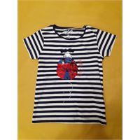 Short sleeve t-shirt with sequins light navy tg 7