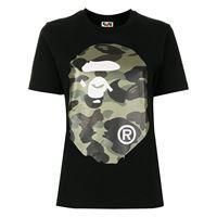A BATHING APE® t-shirt con stampa big ape head - nero