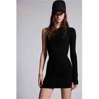 Dsquared2 donna vestito nero taglia xs 100% viscosa