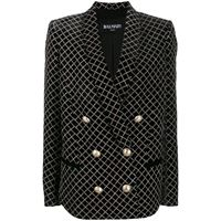 BALMAIN blazer donna sf17228v070eah viscosa nero