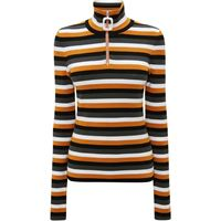 JW Anderson t-shirt a righe henley - giallo