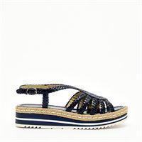 PONS QUINTANA sandalo in pelle blu