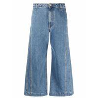 LANVIN jeans a gamba ampia - blu