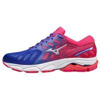 Mizuno scarpe running wave ultima 12 eu 36 1/2 violet blue / silver / rose red