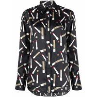 Victoria Victoria Beckham camicia con stampa - nero