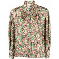 Sandro Paris blusa a fiori - verde