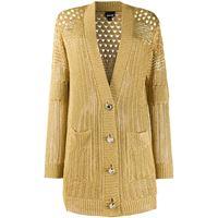 Just Cavalli cardigan traforato - oro