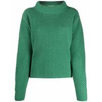 Société Anonyme maglione con scollo a imbuto - verde
