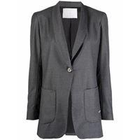 Société Anonyme blazer avvitato monopetto - grigio