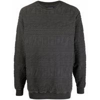 Neighborhood maglione con effetto jacquard - grigio
