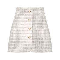 Miu Miu minigonna tartan - bianco