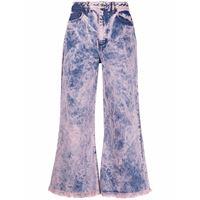 Marques'Almeida jeans svasati a vita alta con fantasia tie-dye - rosa