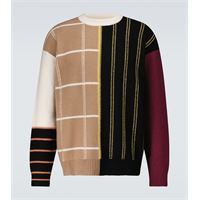 LOEWE pullover in cashmere a righe patchwork