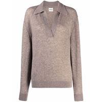 Khaite maglione con scollo a v - toni neutri