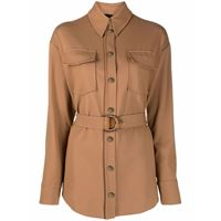 Pinko giacca monopetto con cintura - marrone