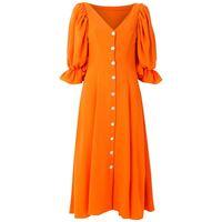 Olympiah abito midi frésia - arancione