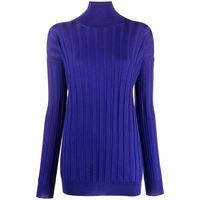 Plan C maglione a coste - blu