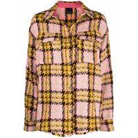 Pinko giacca a quadri oversize - giallo