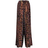 Pierre-Louis Mascia pantaloni con stampa patchwork - rosso