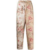 Pierre-Louis Mascia pantaloni dritti a fiori - multicolore