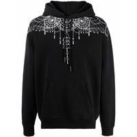 Marcelo Burlon County of Milan astral wings regular hoodie black white - nero