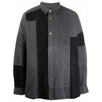 AMBUSH patchwork denim shirt black denim no col - nero