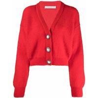 Alessandra Rich cardigan con bottoni - rosso