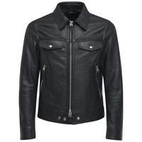 TOM FORD giacca in pelle martellata con zip