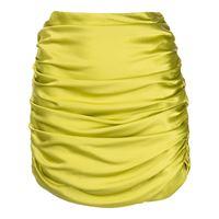 Michelle Mason minigonna con dettaglio arricciato - verde