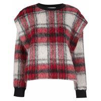 8pm maglione con motivo tartan - rosso