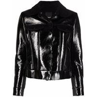 Pinko giacca con colletto a contrasto - nero