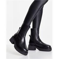 ASOS DESIGN - ascend - stivaletti a calza premium in pelle neri-nero